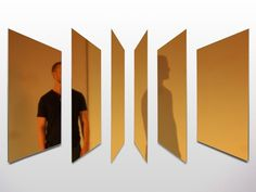 Memoir Mirror by Joe Doucet #gold #mirror #geometric