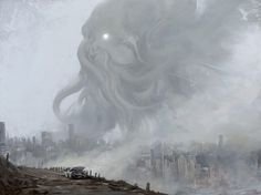 this isn't happiness™ (Cthulhu), Peteski #alien #city #illustration #concept #tentacles #cthulhu