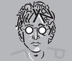 John Lennon Typographic Portrait by Matt Hodin www.Behance.net/MattHodin