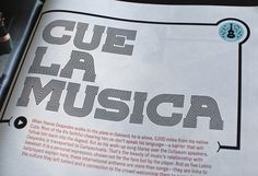 ESPN: Music Issue Allan Peters #editorial #typography