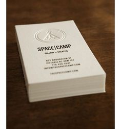 Eight Hour Day » Blog #business #card #letterpress #camp #space