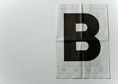 B #bremen #newspaper #waaitt #paper #typography