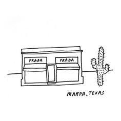 Little Marfa Drawing #bktx #brooklyn #texas #marfa #prada #art #drawing