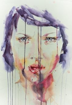 Portrait 1 #woman #eye #portrait #painting #face #watercolor