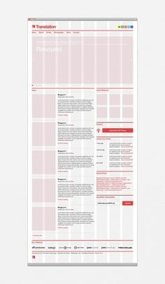 Translation Recordings on the Behance Network #grid #layout