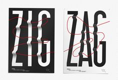 ZigZag by b.a.-ba #posters #typography