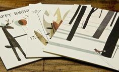 Red Cap Cards #klassen #card #print #illustration #nature #john #forest