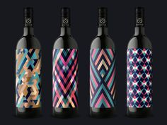 MotifWine #packaging #patterns #label #wine