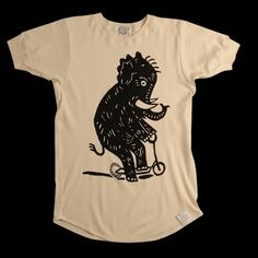 UNIONMADE - tender - Elephant Scooter T-Shirt #elephant