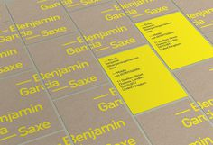 Benjamin Garcia Saxe | Confederation #business #card #print