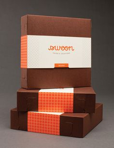 lovely package swoon1 #white #packaging #orange #brown #logo