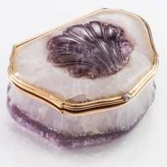 Fine Faberge Amethyst Box