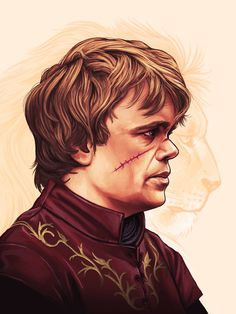 Tyrion by Mike Mitchell #tyrion #of #lannister #illustration #portrait #got #game #thrones