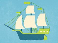 littleship.png 400×300 pixels #illustration #ship #nautical