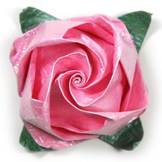 How to make a jewelry origami rose paper flower (http://www.origami-flower.org/howto-origami-rose.php) #origami #rose #origamirose