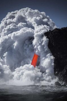 Cascade of Lava: Hawaii Volcanoes National Park by Michael Shainblum