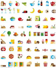 Icons & Badges on the Behance Network #icon #food #loulou #illustration #tummie #and