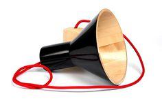 Antek Lamp by Otoprojekt natural maple wood black antek lamp #lamp #design #lampshade #product #lighting #light