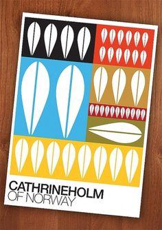 Cathrineholm poster print Mid century modern desing by handz #retro #poster #print #cathrineholm #scandinavian