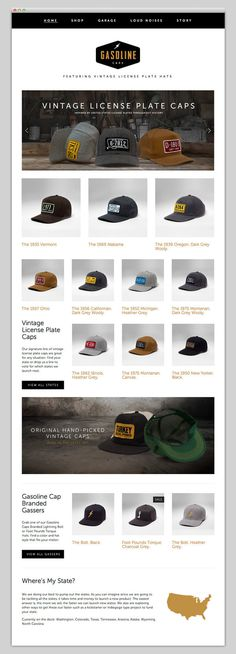 Gasoline Caps #website #layout #design #web
