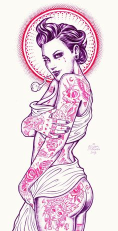 tumblr_m72dsdx9Iw1qz9v0to1_1280.png 434×851 pixels #illustration #tattoo