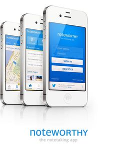 Noteworthy app concept #iphone #app