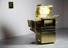 golden_copier01.png (500×354) #gold #photocopy #sculpture #art