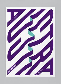 Design Work Life » cataloging inspiration daily #print #purple #type #teal #typography