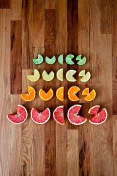 Play by Allison Supron #type #fruit #lettering #typography