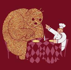 FFFFOUND! | spaghetti2detail.jpg (536×530) #illustration #spaghetti