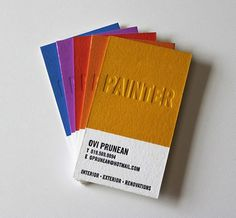 Ovi Prunean : Lovely Stationery . Curating the very best of stationery design #business #card #print #yellow #letterpress #color #chip #pantone #promotion