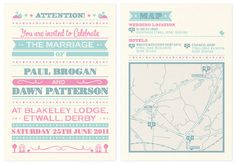 Wedding Invites Hellomatt #lettering #retro