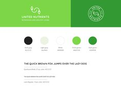 Branding design with logo in two versions, color palette and typography. #branding #guide #logo @organic @color #palette #typography