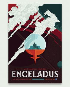 Enceladus / Invisible Creature for NASA #invisiblecreature #posters #nasa