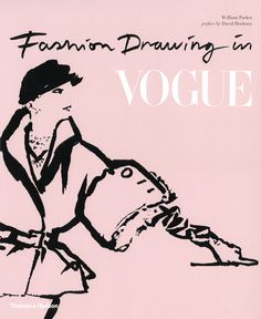 fashion drawing in vogue #vogue #pink #book #cover #illustration #fashion #drawing