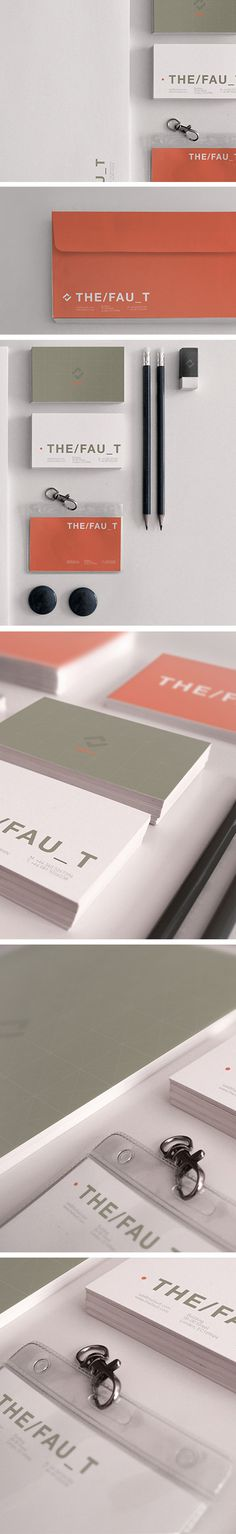 The Fau_t #agency #red #fault #business #card #design #graphic #the #corporate #default #identity #idea #petruccio #andrea #work
