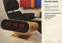 Heuer Clock #clock #retro #heuer