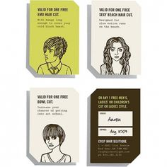 THEARTISTANDHISMODEL » Branding #voucher #hairdresser #branding #illustration #type