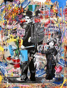 Paddle8: Just Kidding - Mr. Brainwash #charlie #pop #brainwash #art #street #chaplin #mr