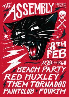 Black Cat Rock Poster