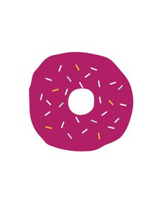 donut-color #pattern #food #dessert #drawn #purple #donut #sprinkles #hand