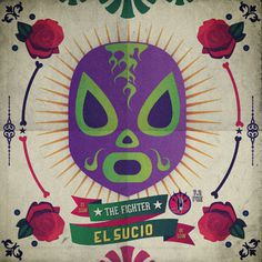 The fighters on Behance #lucha #print #illustrator #graphic #colours #desing #libre