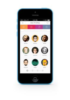 Portfolio UI on Behance #coler #design #ui #iphone #app