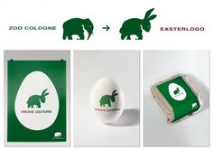 Zoo Cologne changes its logo for Easter #logo #easter #zoo #animals