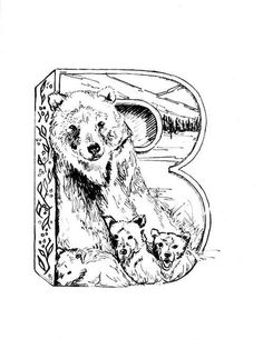 B is for Bear - Micron Drawing #illustration #B #Bear #micron #letter #alphabet #grizzly