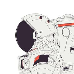 CranioDsgn Vector Illustrations (28) #vector #astronaut #space #illustration #drawing