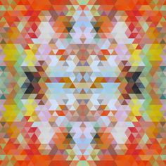 Pattern Collage - sallie harrison #pattern #wallpaper #color #shapes #geometric #triangles #pantone #collage #patterns