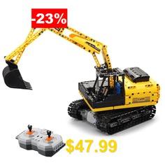 CaDA #C51057 #544pcs #Blocks #Building #Assembled #City #Technic #Engineering #Excavator #RC #Car #for #Gift