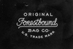 Forestbound Bag Co. by LAND #typographic #lockup #custom #type #typography