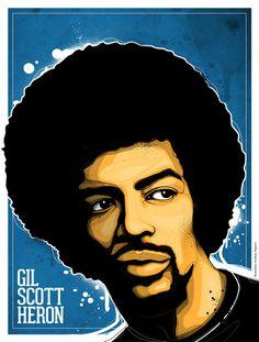 GIL SCOTT HERON ILLUSTATION #poster #illustration #art